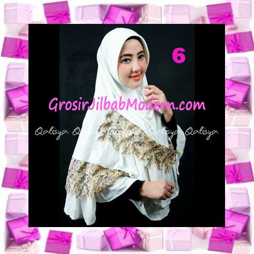Jilbab Syar'i Qisya Renda 3 Dimensi Original by Qalisya No 6