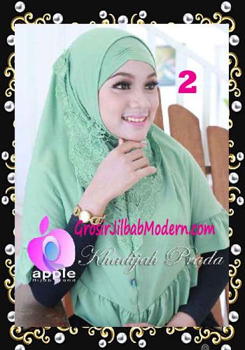 Jilbab Syria Syar'i Khadijah Prada Premium by Apple Hijab Brand No 2 Green