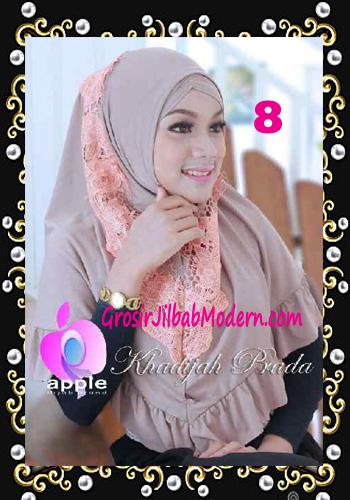 Jilbab Syria Syar'i Khadijah Prada Premium by Apple Hijab Brand No 8 Coksu
