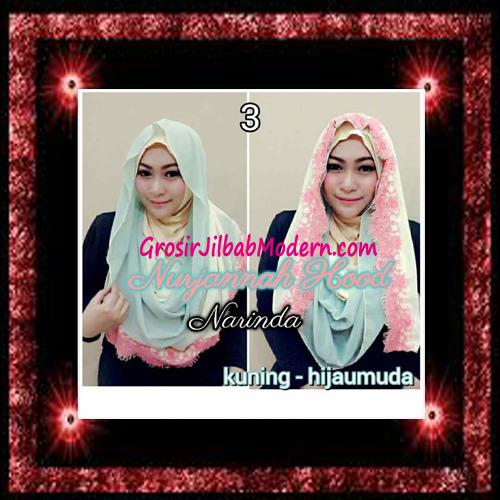 Jilbab Hoodie Instant Trendy Nurjannah Original by Narinda No 3