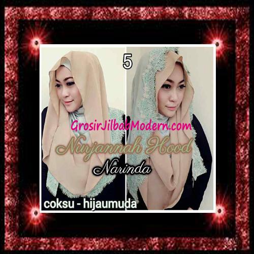 Jilbab Hoodie Instant Trendy Nurjannah Original by Narinda No 5
