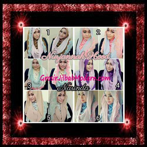 Jilbab Hoodie Instant Trendy Nurjannah Original by Narinda Series