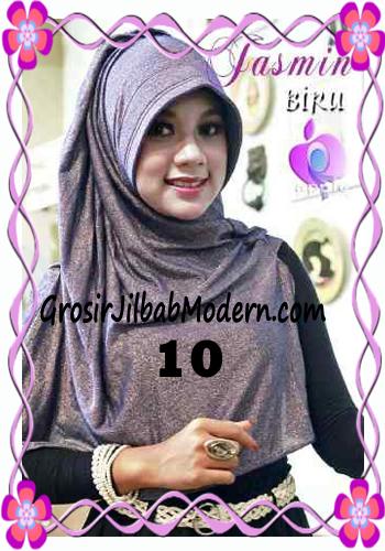 Jilbab Instant Modis Praktis Yasmin Premium by Apple Hijab Brand No 10 Biru