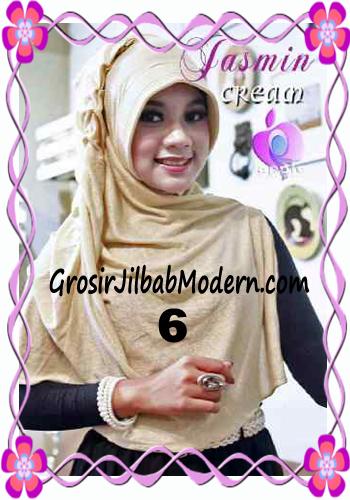 Jilbab Instant Modis Praktis Yasmin Premium by Apple Hijab Brand No 6 Cream
