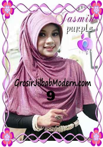 Jilbab Instant Modis Praktis Yasmin Premium by Apple Hijab Brand No 9 Ungu