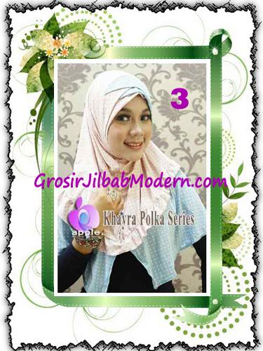 Jilbab Syria Modis Khayra Polka Series Premium by Apple Hijab Brand No 3