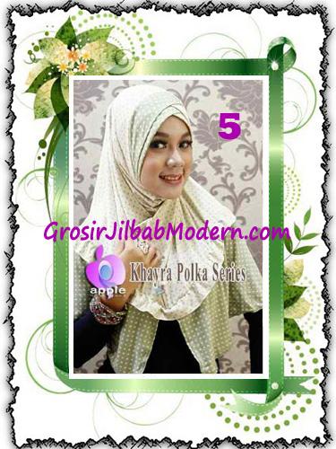 Jilbab Syria Modis Khayra Polka Series Premium by Apple Hijab Brand No 5