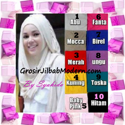 Pashmina Instant Hanna ala Jilbab Dewi Sandra di Sinetron CHSI Original by Syahida