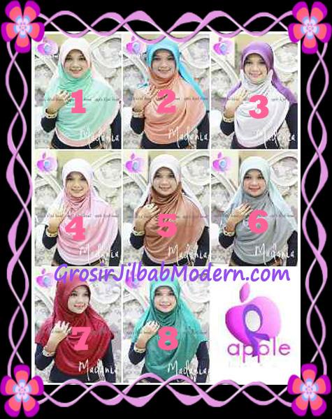 Jilbab Instant Cantik Syria Pet Madania Original Apple Hijab Brand Series