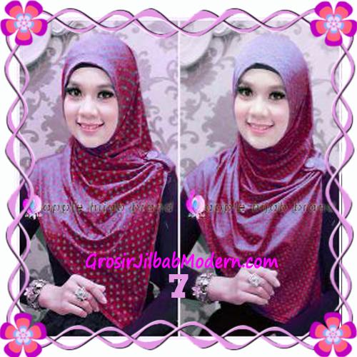 Jilbab Syria Arzety Bolak Balik Polka Bintang Original Apple Hijab Brand No 7 Maroon