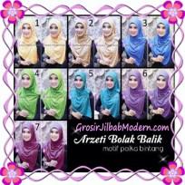 Jilbab Syria Arzety Bolak Balik Polka Bintang Original Apple Hijab Brand Series