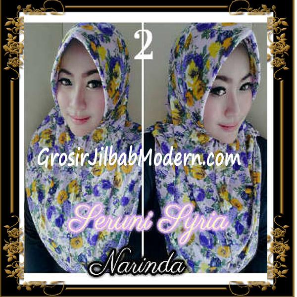 Jilbab Syria Pet Bunga Seruni Cantik by Narinda No 2