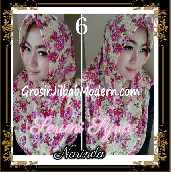 Jilbab Syria Pet Bunga Seruni Cantik by Narinda No 6