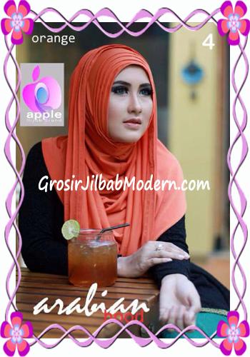 Jilbab Hoodie Instan Arabian by Apple Hijab Brand No 4 Orange