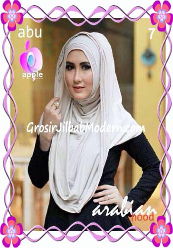 Jilbab Hoodie Instan Arabian by Apple Hijab Brand No 7 Abu