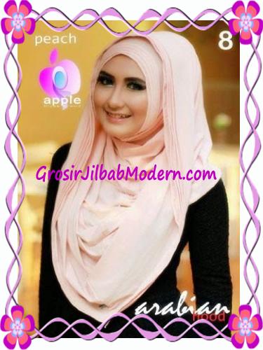 Jilbab Hoodie Instan Arabian by Apple Hijab Brand No 8 Peach