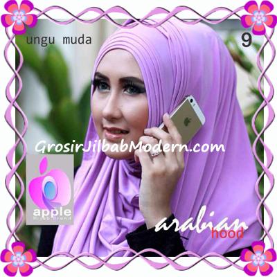 Jilbab Hoodie Instan Arabian by Apple Hijab Brand No 9 Ungu Muda