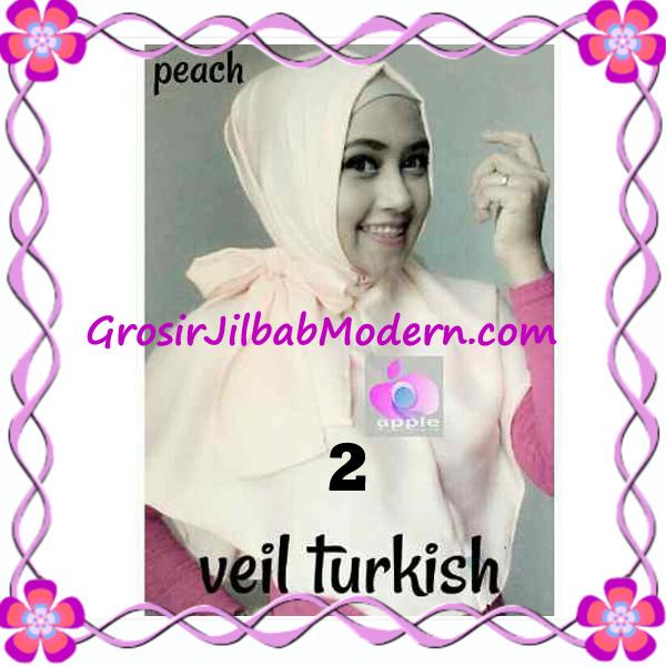 Jilbab Instant Cantik Exclusive Veil Turqish by Apple Hijab Brand No 2 Peach
