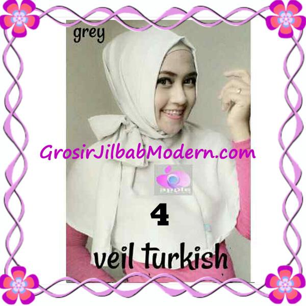 Jilbab Instant Cantik Exclusive Veil Turqish by Apple Hijab Brand No 4 Grey