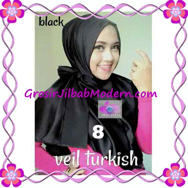 Jilbab Instant Cantik Exclusive Veil Turqish by Apple Hijab Brand No 8 Hitam