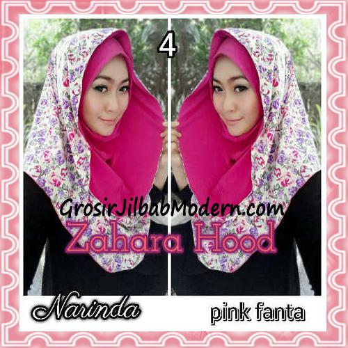 Jilbab Instant Hoodie Zahara Bunga Cantik By Narinda No 4 Pink Fanta