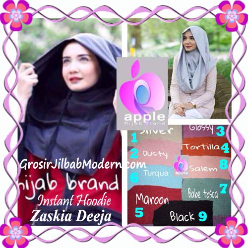 Jilbab Instant Hoodie Zaskia Deeja by Apple Hijab Brand Series