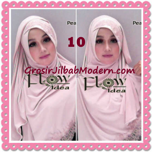 Jilbab Instant Syria Renda Silang Trendy Annisa by Flow Idea No 10 Peach