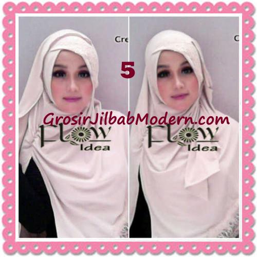 Jilbab Instant Syria Renda Silang Trendy Annisa by Flow Idea No 5 Cream