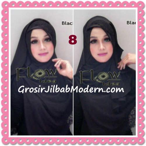 Jilbab Instant Syria Renda Silang Trendy Annisa by Flow Idea No 8 Hitam