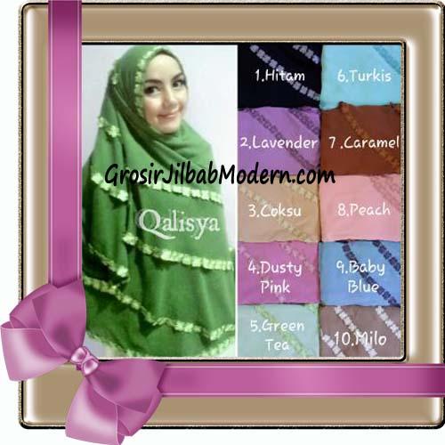 Jilbab Jumbo Cerutti Khimar Exclusive Lyra Seri 2 Original by Qalisya Series