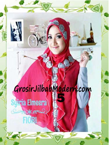 Jilbab Jumbo Modern Modis Elmeera Original By Fiori Design No 5 Fanta