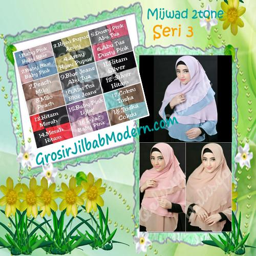Jilbab Khimar Cantik Cerutti  Mijwad 2Tone Seri 3 Original by Qalisya Series