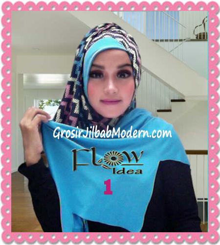 Jilbab Pashmina Instan Modern Zigzagy By Flow Idea No 1 Biru