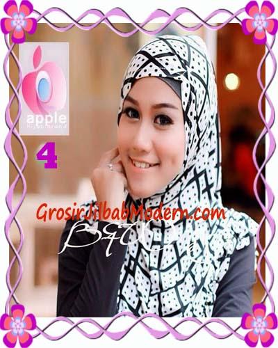 Jilbab Syria Exclusive Black and White Cantik Original By Apple Hijab Brand No 4