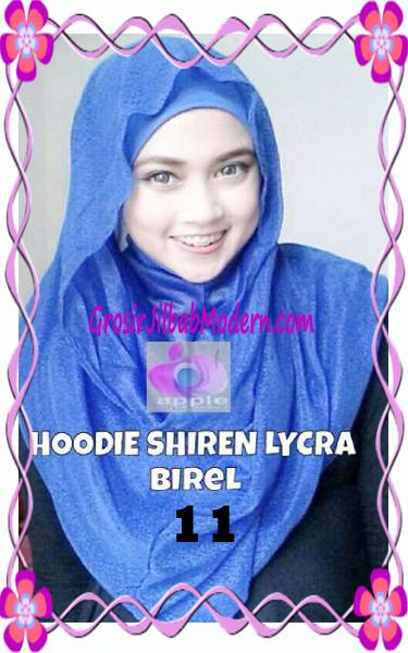 Jilbab Syria Hoodie Instant Shiren Lycra by Apple Hijab Brand No 11 Birel