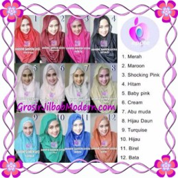Jilbab Syria Hoodie Instant Shiren Lycra by Apple Hijab Brand Series