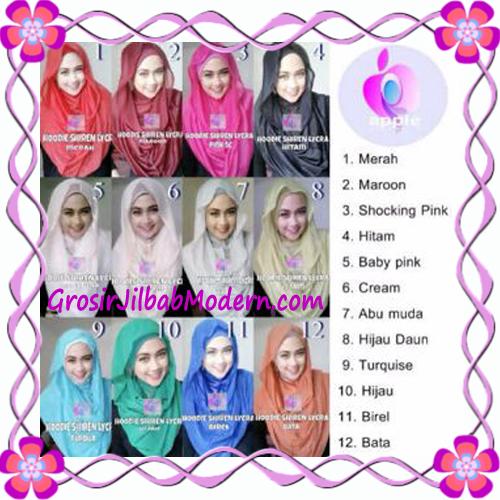 Jilbab Syria Hoodie Instant Shiren Lycra by Apple Hijab Brand Series
