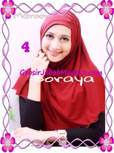 Jilbab Syria Kerut Soraya Original by Apple Hijab Brand No 4 Maroon