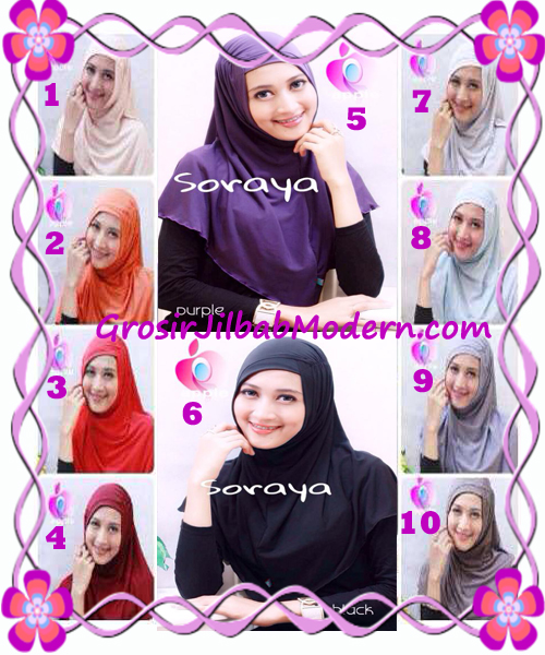 Jilbab Syria Kerut Soraya Original by Apple Hijab Brand Series