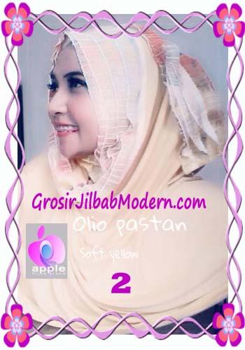 Pashmina Instant Modern Olio Original by Apple Hijab Brand No 2 Soft Yellow