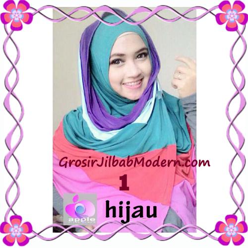Pashmina Instant Rainbow Modis by Apple Hijab Brand No 1 Hijau
