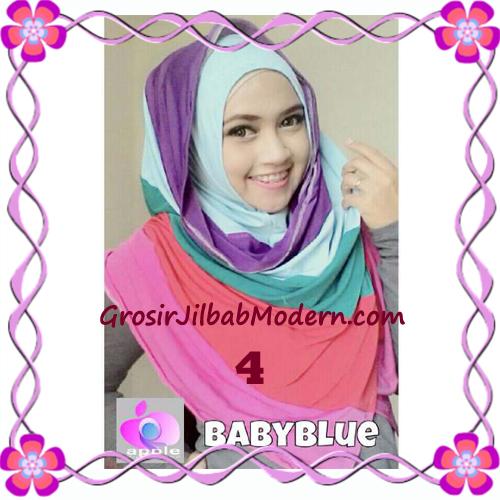 Pashmina Instant Rainbow Modis by Apple Hijab Brand No 4 Baby Blue
