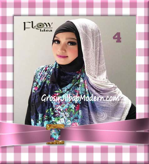 Jilbab Instant Hoodie Inner Maroko Terbaru Marhooda By Flow Idea No 4 Ungu