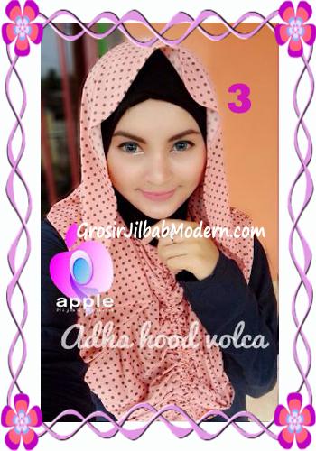 Jilbab Instant Modis Adha Hoodie Volca by Apple Hijab Brand No 3