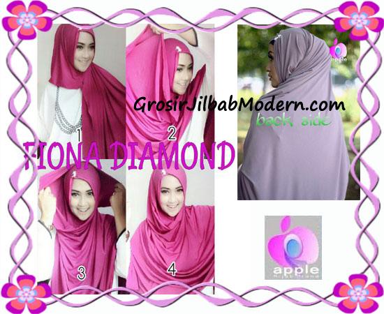Jilbab Modern Fiona Diamond Syar'i Modis by Apple Hijab Brand - Cara Pemakaian
