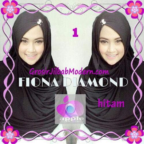 Jilbab Modern Fiona Diamond Syar'i Modis by Apple Hijab Brand No 1 Hitam