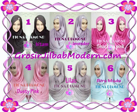 Jilbab Modern Fiona Diamond Syar'i Modis by Apple Hijab Brand Series