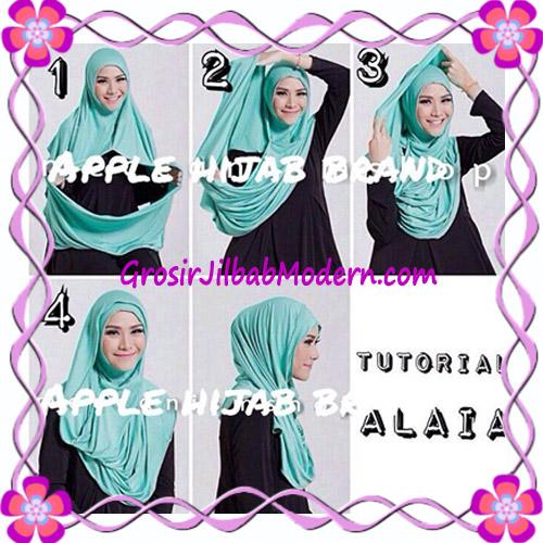 Jilbab  Pashmina Instan Hoodie Alaia Plain by Apple Hijab Brand - Cara Pakai 1