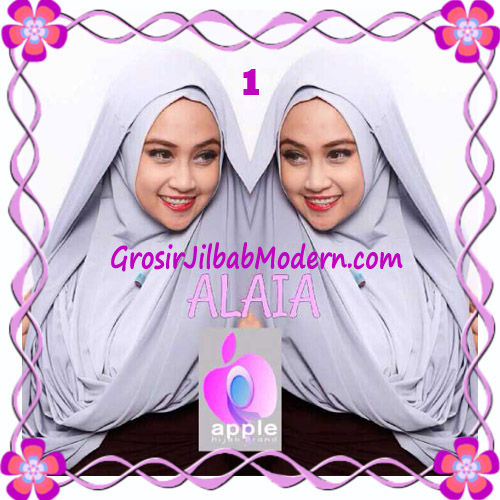 Jilbab  Pashmina Instan Hoodie Alaia Plain by Apple Hijab Brand No 1 Grey
