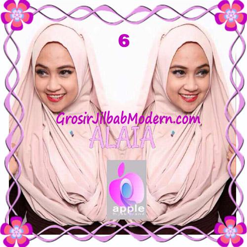 Jilbab  Pashmina Instan Hoodie Alaia Plain by Apple Hijab Brand No 6 Mocca